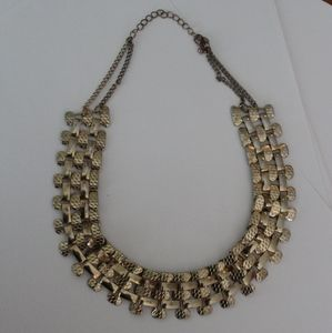Vtg 80s / 90s gold color chunky necklace